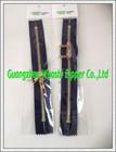 10 inch zipper/two way metal zipper/light gold zippers close end for garments
