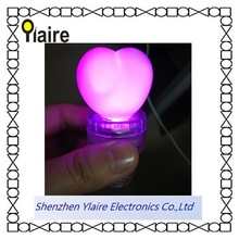 Christmas colorful led lighted red wine bottle stopper with heart shape