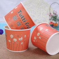12oz 340ml regular size Custom disposable hot soup paper bowl Food grade biogradable salad paper bowl