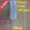 Impact resistance LD-168 A B component glue transparent crystal epoxy resin adhesive for crystal products jewelry bonding