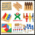 Alibaba china melhor madeira montessori móveis/criança pré-escolar brinquedo/arábica montessori material 160 conjunto completo para baby qx-177d