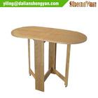 Unique Rectangular Gateleg Modern Wooden Dinning Table