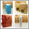 Anti-shatter for hands protection kraft paper golf cloth bag wholesale