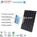 310w de alta eficiencia panel solar bipv techos, pv de vidrio de doble panel solar fotovoltaicos integrados del sistema