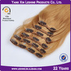 Easy to wear 120g 160g blonde brown clip in hair extension full head set