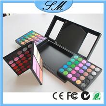 156 Color eyeshadow palette Full PRO eye shadow + Blush + Lipgloss Makeup Kit