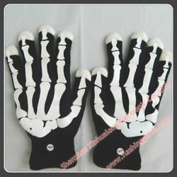 Led light glove for party decoration, light up glove, led flashing glove