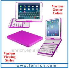 LBK156 Wireless Bluetooth Keyboard For Ipad Mini 3 360 rotation bluetooth keyboard case for ipad mini