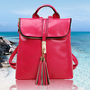 Latest design fashion satchel cheap tassel pu leather backpack SY5495