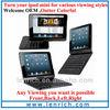 LBK156 360 Degree Rotating Flip Case Bluetooth Keyboard for iPad Mini,Green Blue Pink