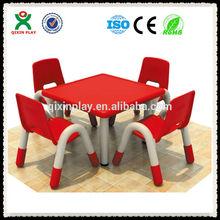 2015 latest design kids study table chair plastic children chair children room furniture QX-193D