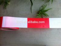 PE Red/White Warning hazard Tape