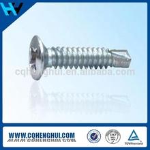 OEM raised carbon steel zinc plated countersunk head screw