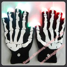 LED Flashing Glove Black led glove Raver Party Decorations XHL-B-B2