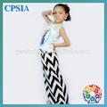 El más reciente 2014 maxi 100% falda de tela elástica niños fotos de largas faldas y tops
