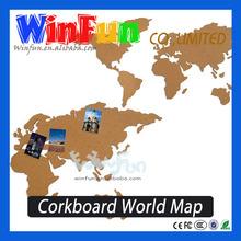 Novelty Gifts Corkboard Scratch map Wall Mounted World Globe Map