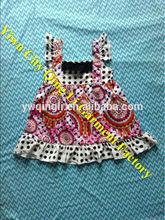 Hot Sale Baby Cotton Flower Dresses Toddler Girls Sleeveless Ruffled Skirt for Wedding Party