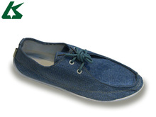 men canvas casual lace-up loafers