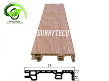 Water-proof laminated wpc baseboard pvc and material wood fiber composite