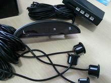 4 Parking Sensors LED Display Sound Alert Car Rear Reverse Backup Radar Black
