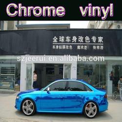 3m car wrapping vinyl chrome vinyl car vinyl, reflective car wrap blue chrome viny