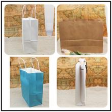 Customized graphics and wordings 2011 new cheap kraft paper handbag wholesale