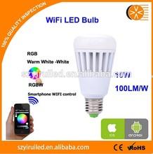 Popular selling intelligent led light bulb ,wifi led bulb,iphone controlled led light