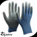 Light blue nitrile dipped glove / working gloves / safety gloves