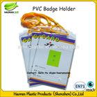 Custom logo pvc photo holder with rope