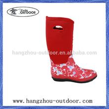 Flower Sexy Girl Waterproof Horse Riding Rain Boot,Neoprene Boots,Neoprene Hunting Boot