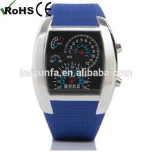 Sports Car Meter pilot watch binary watch Flash LED Watch
