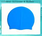 Wholesale summer silicone rubber swim cap