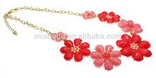 wholesale ladies fashion flower necklace