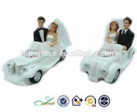 For Love wedding car married couple figurine