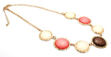 wholesale fashion alloy ladies necklace with stone