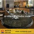 Zümrüt inci yuvarlak granit mutfak masaları, karo mutfak masasında, granit tezgah yemek yuvarlak masa