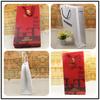 with pantone color printing classical brown kraft paper bag with jute handle