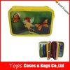 Wholesale triple zipper kids promotional pencil cases