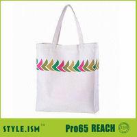 custom printed canvas tote bag fabric shopping bag