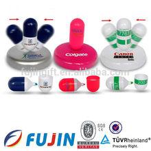Medical plastic multi shaped special highlighter pen capsule promotion highlighter pen