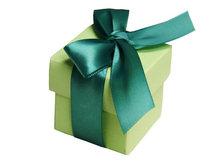 Gloss laminated polka dot gift boxes