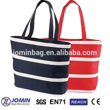 cross stripe fashion tote picnic insulated cooler bag