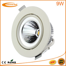 2014 project designed,Epistar, Bridgelux,cut out80,85,90mm,PF0.9,CRI80,230v, 240v,dimmable cob downlights 9w led
