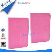 2014 hottest selling 360 degree rotating pu leather case for ipad mini