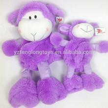Microwavable soft purple sheep toy plush sheep