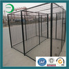 Large black welded wire mesh dog kennel