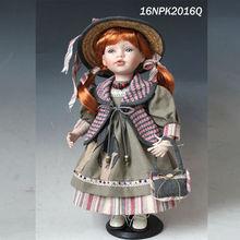 16 polegadas país menina baratos baby boneca de porcelana