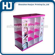 Hot selling cardboard pallet display/shop display/shop furniture garment display
