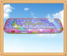 Rectangular tin pencil case
