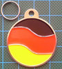 Yiwu Jewelry factory zinc alloy nickle free enamel country flag dog tag wholesale